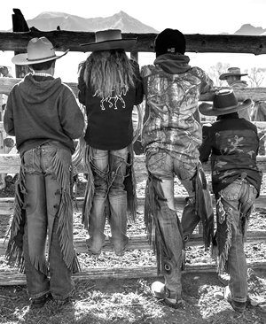 Ranch kids on the O'Hair Ranch